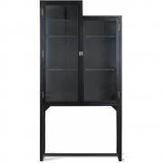 HKliving - Escaliers Cabinet Vitrine Bois Noir