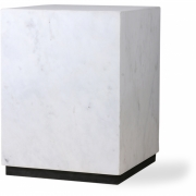 HKliving - Marmor Beistelltisch Block Weiß M