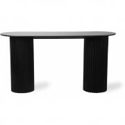 HKliving - Pillar Beistelltisch Oval Schwarz