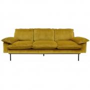 HKliving - Retro Sofa 3-Sitzer Ocker