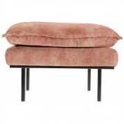 HKliving - Retro Sofa: Hocker, Vintage Samt, Altrosa