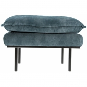 HKliving - Retro Sofa: Hocker, Vintage Samt, Petrol Blau
