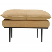 HKliving - Retro Sofa: Hocker, Leder, Natur