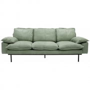 HKliving - Retro Sofa: 3 Sitze, Leder, Mint Green