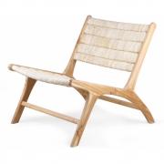 HKliving - Abaca / Teak Lounge Chair