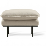 HKliving - Retro Sofa: Hocker, Cosy, Beige