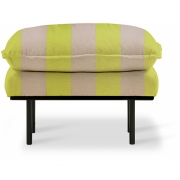 HKliving - Retro Sofa: Hocker Striped Gelb / Nude