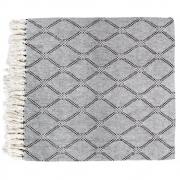 HKliving - Bedspread Black/white Diamonds