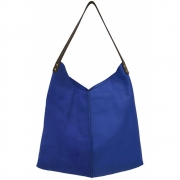 HKliving - Leather Bag Electric Blue
