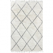 HKliving - Woll Berber Teppich Schwarz / weiß (200x300)