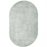 HKliving - Oval Viscose Teppich Mint Green