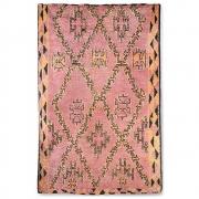 HKliving - Hand Knotted Woolen Berber Rug Terra/orange (180x280)