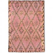 HKliving - Hand Knotted Woolen Berber Rug Terra/orange (250x350)