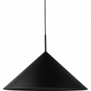 HKliving - Metal Triangle Pendant Lamp L Matt Black