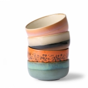 HKliving - Ceramic 70's Dessert Schalen 4er Set