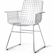 HKliving - Sessel Metall Mit Armlehne Silber