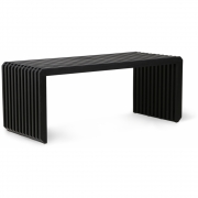 HKliving - Slatted Bench Element Black