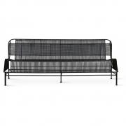 HKliving - Outdoor Lounge Sofa Gewebt Schwarz