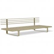 HKliving - Outdoor Lounge Sofa Aluminium Olive/Grün