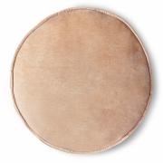 HKliving - Velvet Seat Cushion Round Peach Ø 60 cm