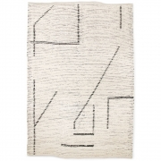 HKliving - Hand Woven Cotton Rug Cream Charcoal 200x300 cm
