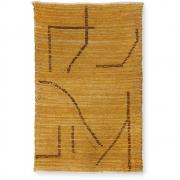 HKliving - Baumwoll Teppich Handgewebt Ocker Braun 120x180 cm