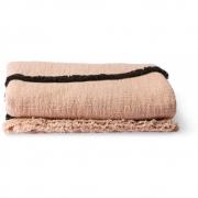 HKliving - Decke Gewebt Soft Nude Schwarze Linien 130x170 cm