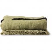 HKliving - Decke Gewebt Soft Pistazie Schwarze Linien 130x170 cm