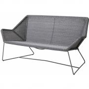 Cane-line - Breeze Lounge Sofa 2-seater Light grey