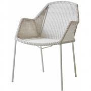 Fauteuil Breeze, empilable - Cane-line Blanc gris