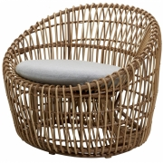 Cane-line - Nest Round outdoor armchair Natural