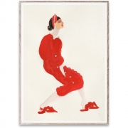 Affiche de conception Red With Pearls - Paper Collective 50 x 70 cm