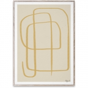 Affiche de conception Different Ways II - Yellow - Paper Collective 50 x 70 cm