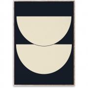 Affiche de conception Half Circles I - Blue - Paper Collective