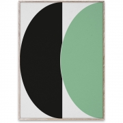 Affiche de conception Half Circles III - Green/Blue - Paper Collective