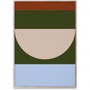 Affiche de conception Half Circles IV - Multi - Paper Collective