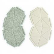 kvadrat - Clouds Box Textil System 8er Set, Beige und Hellgrau