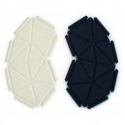 kvadrat - Clouds Box Textil System 8er Set, Beige und Schwarz
