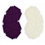 kvadrat - Clouds Box Textil System 8er Set, Beige und Dunkelrot
