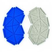 kvadrat - Clouds Box Textil System 8er Set, Blau und Hellgrau