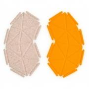 kvadrat - Clouds Box Textil System 8er Set, Beige und Gelb