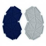 kvadrat - Clouds Box Textil System 8er Set, Dunkelblau und Hellgrau