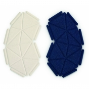 kvadrat - Clouds Box Textil System 8er Set, Dunkelblau und Beige