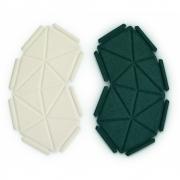 kvadrat - Clouds Box Textil System 8er Set, Dunkelgrün und Beige