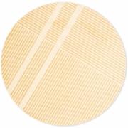 Heymat - Løype Sunny Yellow Teppich rund