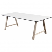 Andersen Furniture - T1 Table extendable, Oak white pigmented