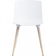 Andersen Furniture - TAC Stuhl Weiß RAL 9010 (Beine: Eiche weiß pigm. lackiert)