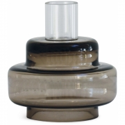 Bougeoir Glass Candlestick No. 54 Sepia Brown - RO Collection