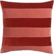 Christina Lundsteen - Stripe Kissen 55x55 cm, Dark red / Blush