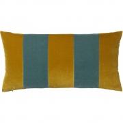 Christina Lundsteen - Stripe Kissen 40x80 cm, Golden olive / Pale blue